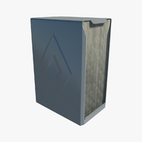 napkin holder 3d obj