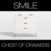 smile chest drawers 3d model