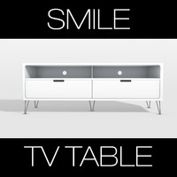 3d model photoreal smile tv table