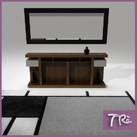 foyer room table 3d model