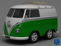 3d model volkswagen type 1 baby