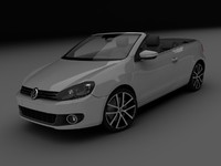 3d model volkswagen golf cabrio
