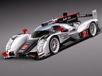 3d model audi r18 2012 racing
