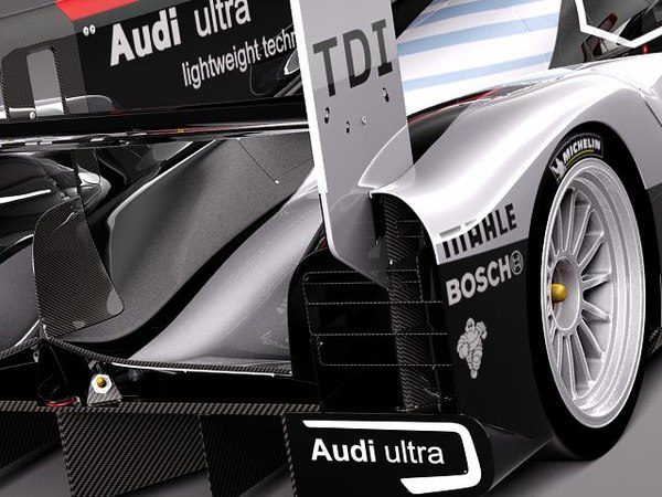 3d model audi r18 2012 racing - Audi R18 2012 race car... by squir