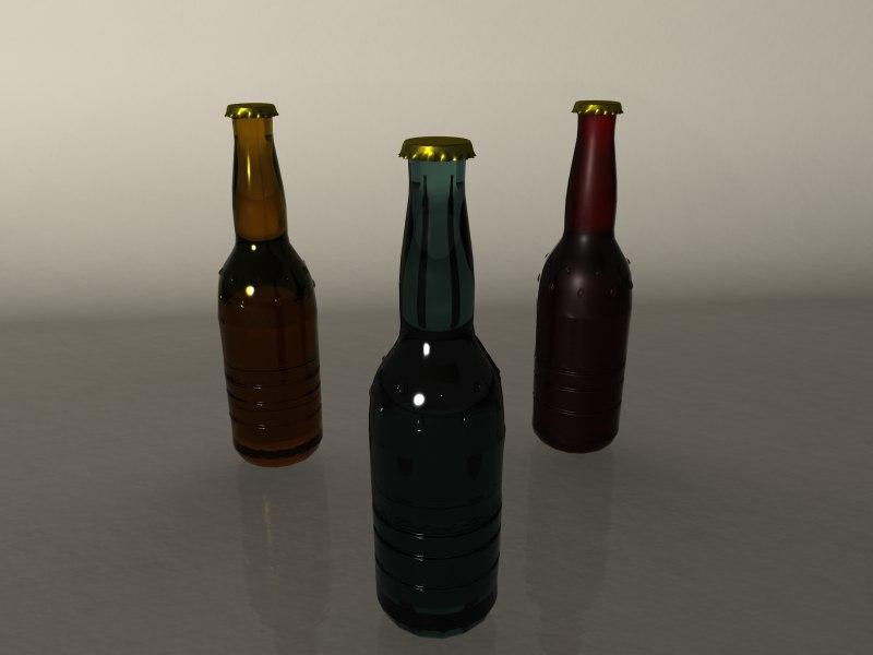 3d model bottle. Black Bedroom Furniture Sets. Home Design Ideas