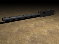 3d model of browning machine gun