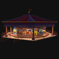 carousel trains 3d model