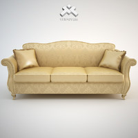 3d model photorealistic 3-seat sofa chantal