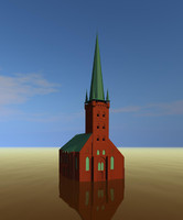 3d max church germany build