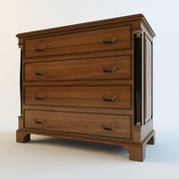 chest drawers globe wernicke 3d 3ds