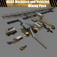 Mega Machines and Vehicle - Mining Pack