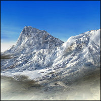 3d model mountain snowy terrain landscape