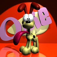 3d odie rigged