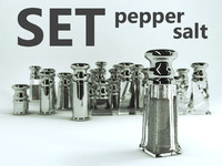 pepper set 3d model