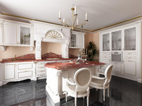 3d model kitchen italian