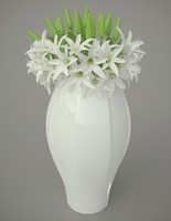 Vase with lilies