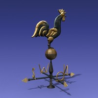 3d weather vane