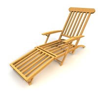 3d model chair garden wood