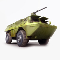 asv military transport 3d model