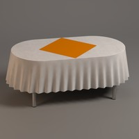 3d model oval table