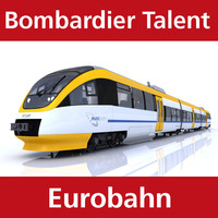 3d model of talent passenger train eurobahn