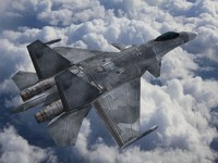 su-37 fighter jet 3d max