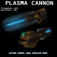 plasma cannon 3d model