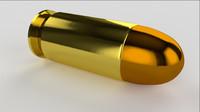 cal 45 pistol bullet 3d model