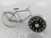 3d model of bicycle clock