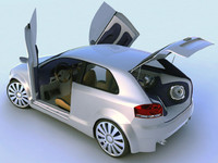 3d model of tuning audi a3