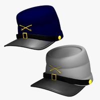 3d civil war caps