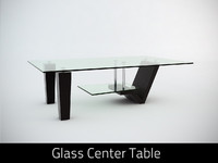 3d model glass center table