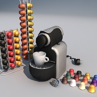 espresso machine 01 coffee 3d model