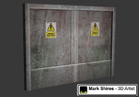 Dirty Metal Lift Door - Game Asset