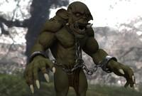 3d goblin beast model