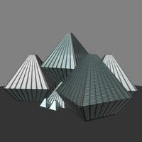 maya octrahedron glass