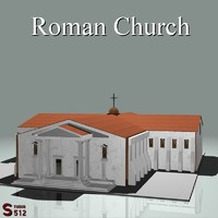 3d romanesque church