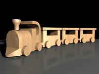 maya wood toy train