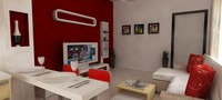 3d apartment interior