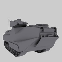 aav-7 amtruck marines 3d model