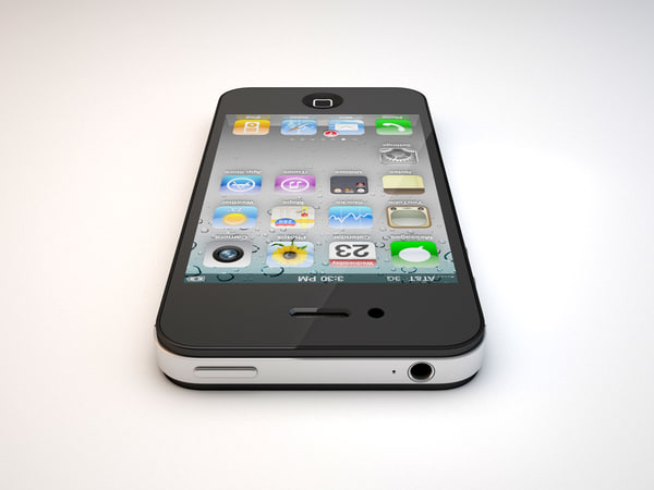 iphone 4s 4 3d model - iPhone 4S... by cris_max86