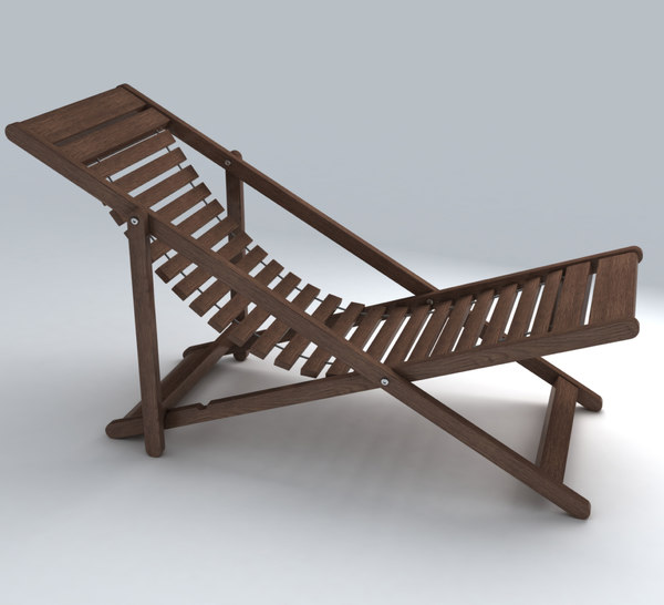 3d model deckchair exterior - Deckchair 12... by RippleDesign
