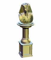 Pharaoh with half-length column