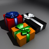 3d model of open able gift box