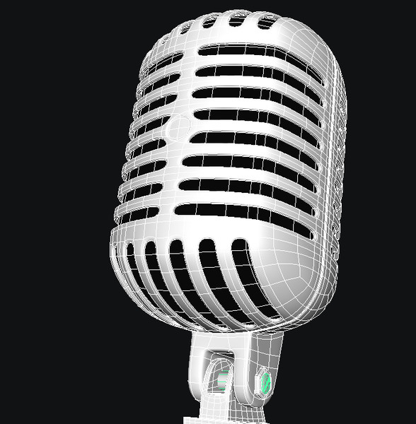 classic microphone 3d obj - microphone... by quality_model