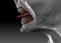 3d model teeth monsters