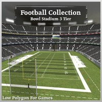 3d model football bowl stadium 3