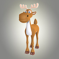 maya cool cartoon christmas deer