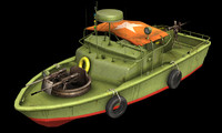 3d model patrol boat river