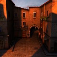 3d model italian alley
